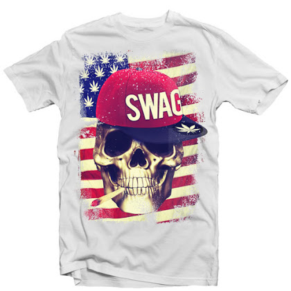 SWAG SKULL USA FLAG